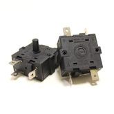 Переключатель режимов для масляных обогревателей 30х30мм, угол поворота 120°, 16A (5-и контактный)