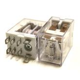 Реле HLS-13F2 (DC24V-15A-2C) 27x22x35, 8 контактов (Ruichi) контакты под колодку
