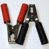 [010]  Зажим «Крокодил», 135мм, 300A, цена за комплект (2 шт, чёрный+красный), APK-028/3-471