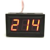 Вольтметр LED AC-50Hz (70-500VAC) 2-провода, цифры красные (48x29x22мм)
