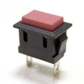 Кнопка PBS-101/KCD-1-PFV квадратная (красная) без фиксации (13х19мм) (250V/6A)