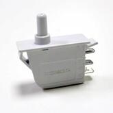 Кнопка JHZ-6 прямоугольная  (41x15х17мм) без фиксации, 3 вертикальных вывода (220V/0,25A)