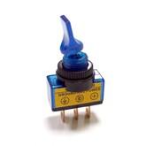 Тумблер ASW-14D/RWC-408D (I-O) (синий-неон) (3 конт.12V/20A), для авто