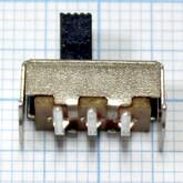 """Переключатель """"движковый"""" 3 выв.под угл.90° к клав. (15х6,0х5,0мм, Hклав=5,0мм) SS-12F23G5"""