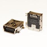 Разъём компьют: гнездо mini-USB 5pin, USB/M-1J на плату, тип2