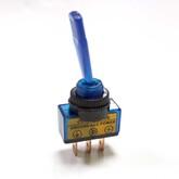 Тумблер ASW-13D (I-O) (синий-неон) (3 конт.12V/20A), для авто
