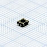 Кнопка 2,7х3,6х1,5мм H-клавиши=0,5мм 4 вывода (горизонтальная установка) SMD
