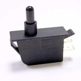 Кнопка KDN-101 прямоугольная  (37x15х19мм) без фиксации, 2 вертикальных вывода (220V/2A)