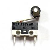 Концевик микро (13x6мм) KW10-Z4P, планка 10мм с роликом, (3к .125В/1A)