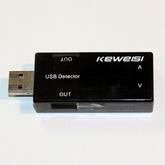Мини USB тестер (U=3,5-7,0V, I=0-3A) LED 3- разряда, 2-строки 116106