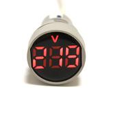 Вольтметр LED AC/50Hz (20-500VAC) DMS-105 красный (дисплей 28мм, корпус 22мм) 110486