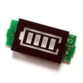 Индикатор заряда Li-ion аккумулятора 1S (3,7V) 31х20х7 мм.