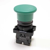Кнопка LXA2 (3SA5)-BC31 (42x30х73мм) зелёная, с фиксацией (240V/3A) 66044