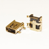 Разъём компьют: гнездо micro-USB 8pin на плату