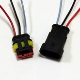 Разъём авто (3P(DJ7031)-1,5)) 3 контакта шт+гн, влагозащитный, провод 60мм (110606)