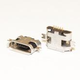 Разъём компьют: гнездо micro-USB 5pin, тип 1 (1.0 SMT 5P) 2выв. крепл. в сторону