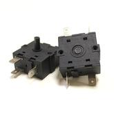 Переключатель режимов для масляных обогревателей 30х30мм, угол поворота 360°, 16A (5-и контактный)