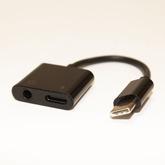 Переход-USB; шт-USB type C - 2гн-USB type C (питание и звук) (L=5см)