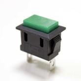 Кнопка PBS-101/KCD-1-PFV квадратная (зеленая) без фиксации (13х19мм) (250V/6A)