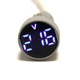 Вольтметр LED AC/50Hz (20-500VAC) DMS-104 синий (дисплей 28мм, корпус 22мм) 110485