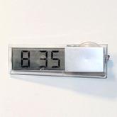 Часы электронные прозрачные с присоской