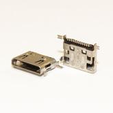 Разъём компьют: гнездо mini-USB 12pin, на плату