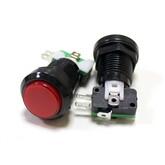 Кнопка GMSI-7B-C (красная, LED-подсветка, без фиксации), (Dуст/нар-25/32мм) (3к .250В/5A)