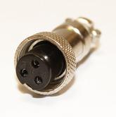 Разъём MIC12 (GX12) 3pin гнездо на кабель (5А,125В) GX12M-3A
