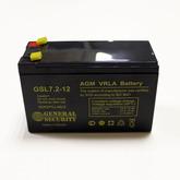 [018]  Аккум 12V / 7,2AH (151 x 65 x 94) General Security (made in Vietnam)