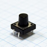 Кнопка 12х12х3,5мм H-клавиши=7мм 4 вывода (горизонтальная установка) KAN1211/KFC-012