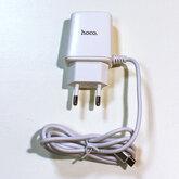 Зарядное устройство (СЗУ), USB 2-гн. 5V/2,4A, шнур microUSB 1м (HOCO C82A, оригинал)