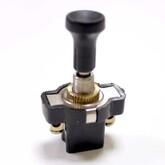 Кнопка ASW-05 L7 (чёрная, с толкателем) (12V/10A)  57058