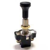 Кнопка ASW-05 L20 (чёрная, с толкателем) (12V/10A)