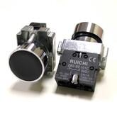 Кнопка 3SA8-BA21 круглая (чёрный металлик, D=30мм) без фиксации (250V/3A)